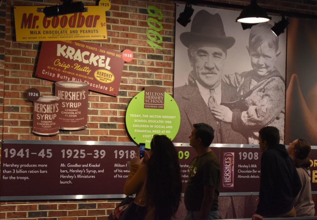 """Hershey's Chocolate Tour"" at Hershey's Chocolate World, Hershey, Pennsylvania, April 14, 2019. (Greg Cook)"