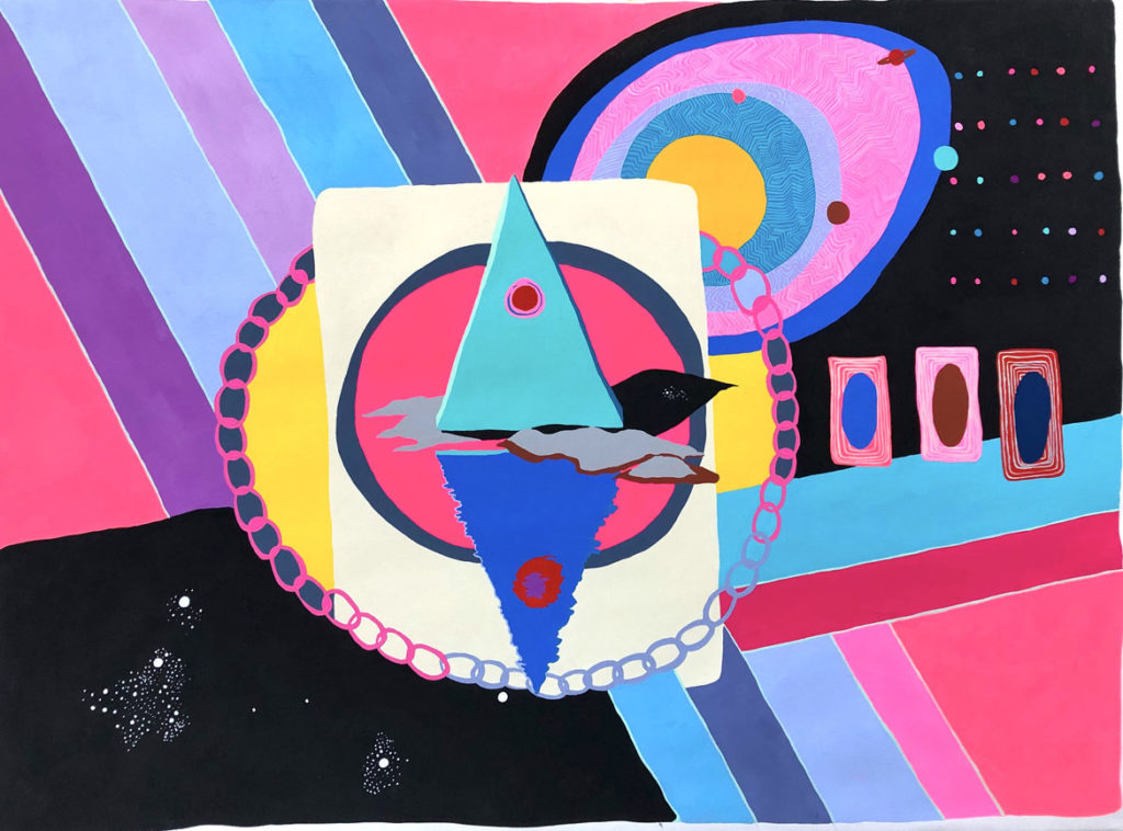 "Macon Reed, ""Portal,"" acrylic gouache on paper, 2016. (Courtesy)"