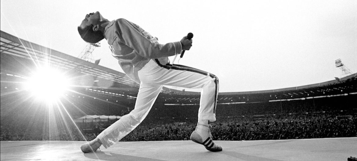 Neal Preston photo of Freddie Mercury.