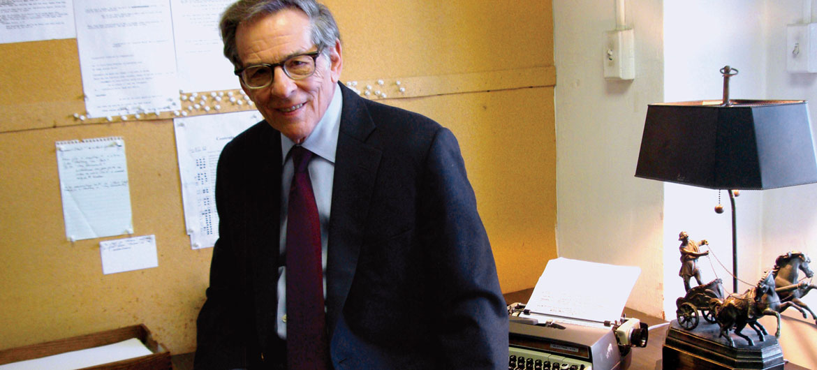 "Robert Caro on the cover of his new book ""Working."" (Courtesy Knopf)"