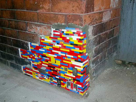 "Nate Swain's ""Lego Fill"" on Congress Street near Boston's Children's Museum. (Courtesy)"