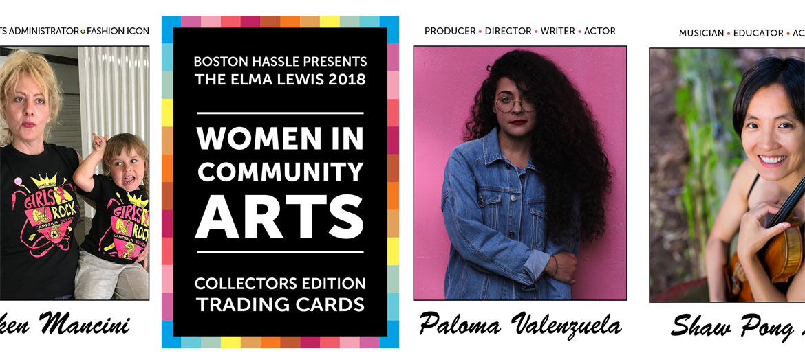 """The Elma Lewis 2018 Women in Community Arts Collectors Edition Trading Cards"" set created by Neil Horsky. (Courtesy)"