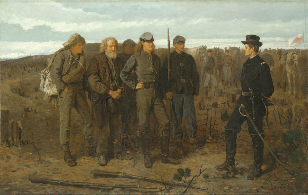 "Winslow Homer, ""Prisoners from the Front,"" 1866, oil on canvas. (© The Metropolitan Museum of Art. Image source: Art Resource, NY.)"