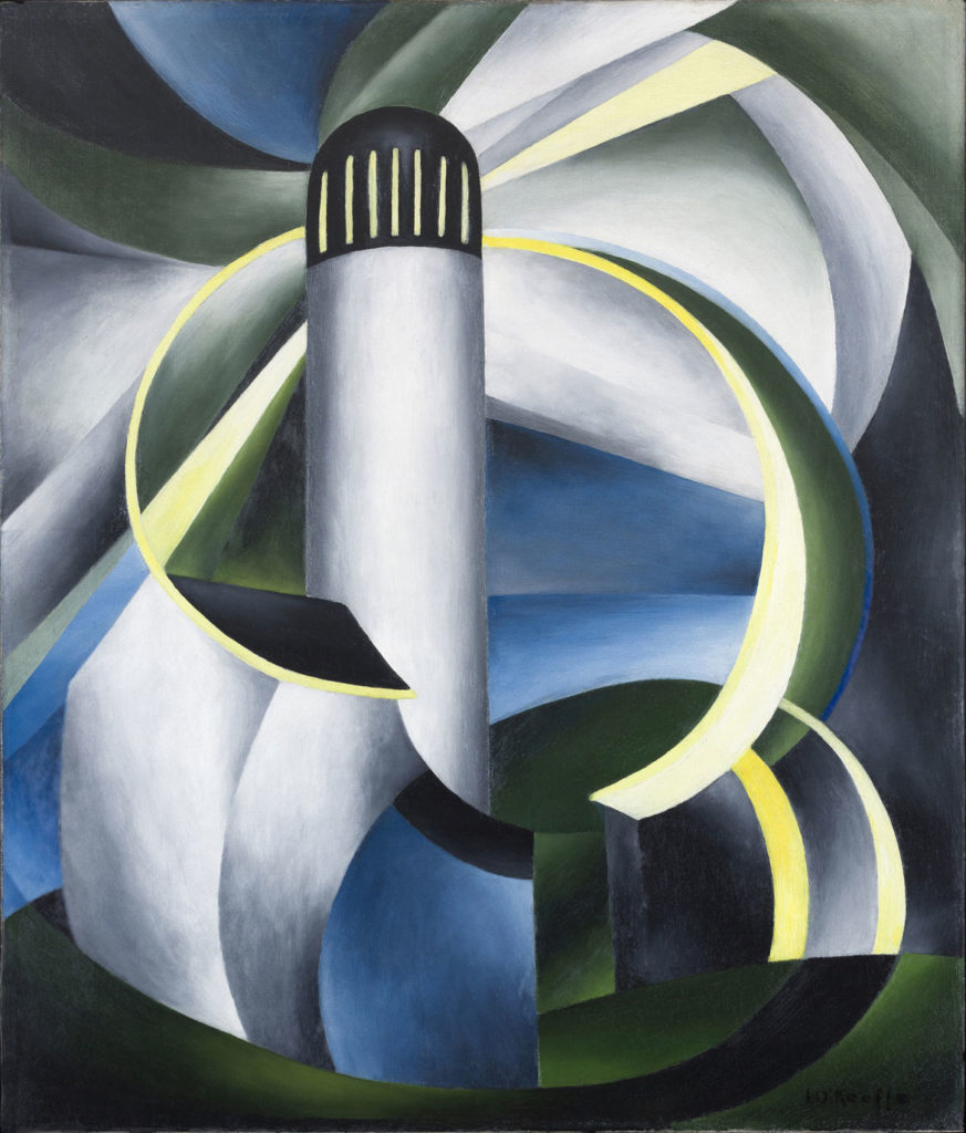 "Ida O'Keeffe ""Variation on a Lighthouse Theme IV,"" c. 1931-32. oil on canvas. (Courtesy Clark Art Institute)"
