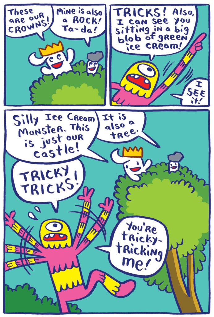 "From ""Johnny Boo is King!"" by James Kochalka. (Top Shelf Productions)"