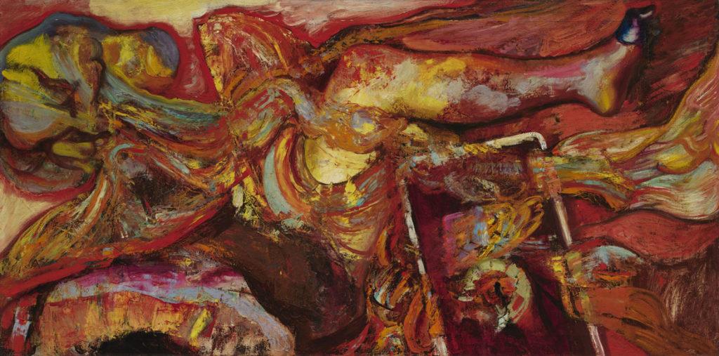 "Hyman Bloom ""Female Leg,"" 1951, oil on canvas. (Courtesy, Museum of Fine Arts, Boston)"