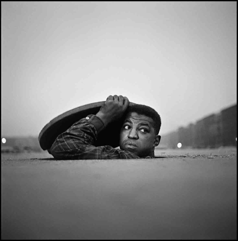 "Gordon Parks ""The Invisible Man, Harlem, New York,"" 1952 Gelatin Silver Print. (Courtesy of the Gordon Parks Foundation)"