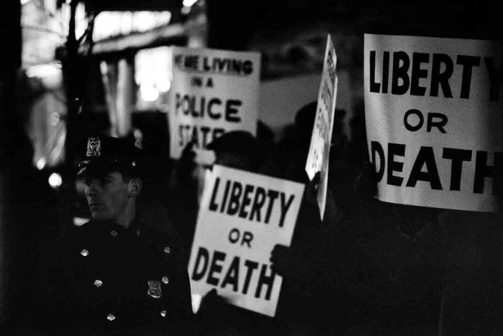 """Gordon Parks """"Harlem Rally, Harlem, New York,"""" 1963 Gelatin Silver Print. (Courtesy of the Gordon Parks Foundation)"""