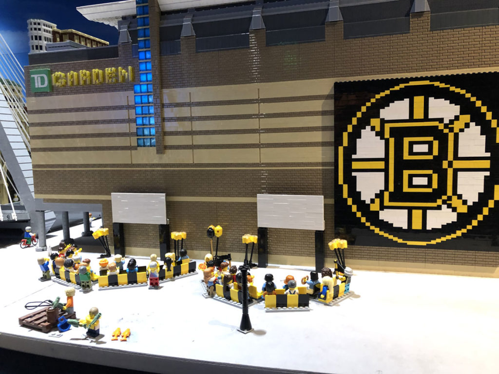Legoland Discovery Center in Somerville celebrates the Boston Bruins, May 28, 2019. (Courtesy)