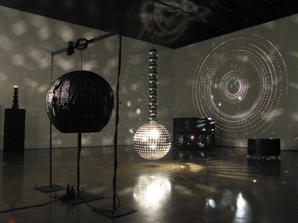 """Installation view: """"Otto Piene: Lichtballett"""" at MIT List Visual Arts Center, Cambridge, MA, 2011. (Photo: Günther Thorn)"""