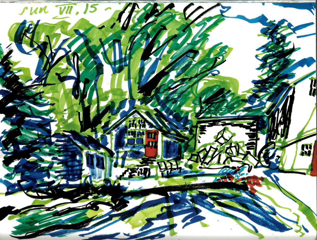 "Otto Piene, ""Sketchbook: Groton,"" 2012. (Courtesy Fitchburg Art Museum)"