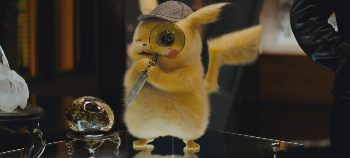 """Pokémon Detective Pikachu"" played by Ryan Reynolds. (Courtesy: Legendary Pictures and Warner Bros. Pictures)"