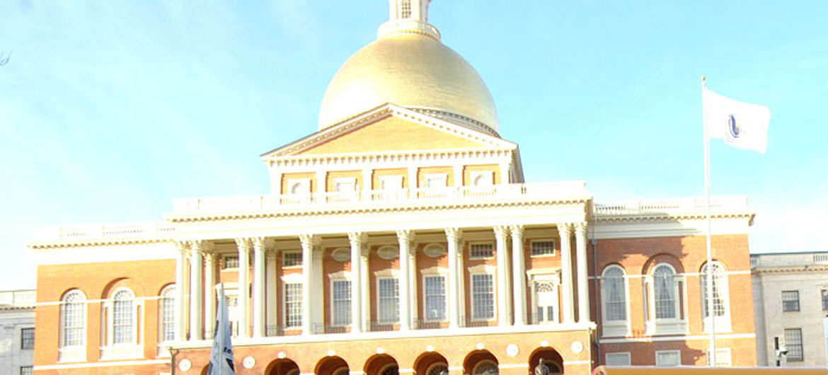Massachusetts State House in Boson, Dec. 12, 2015. (Greg Cook)