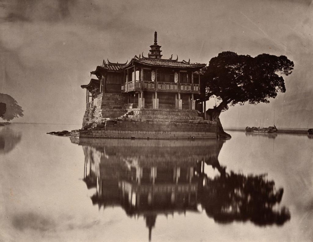 "John Thomson, ""The Island Pagoda,"" 1873, carbon print. (© Peabody Essex Museum.)"