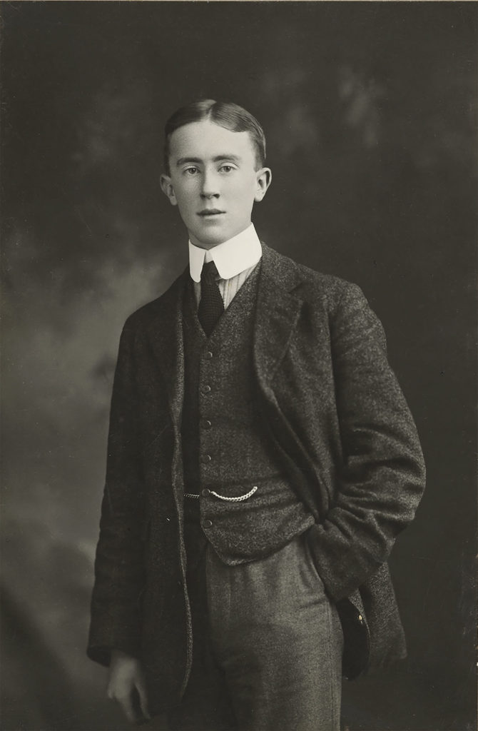 J. R. R. Tolkien, January 1911, black and white photograph by Studio of H.J. Whitlock & Sons Ltd., Birmingham. ( © The Tolkien Trust)