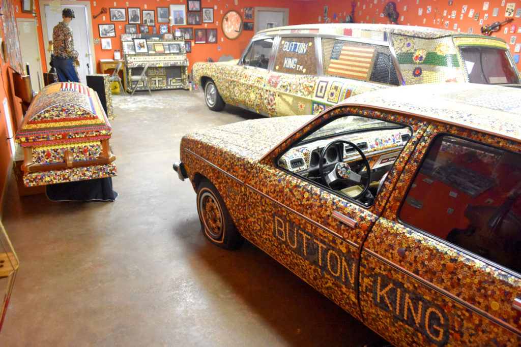 Button King Museum created by the late Dalton Stevens in Bishopville, South Carolina, June 20, 2019. (Greg Cook)