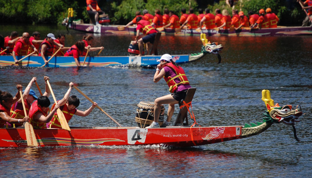 Boston Dragon Boat Festival on Charles River, Cambridge, June 10, 2012. (Greg Cook)