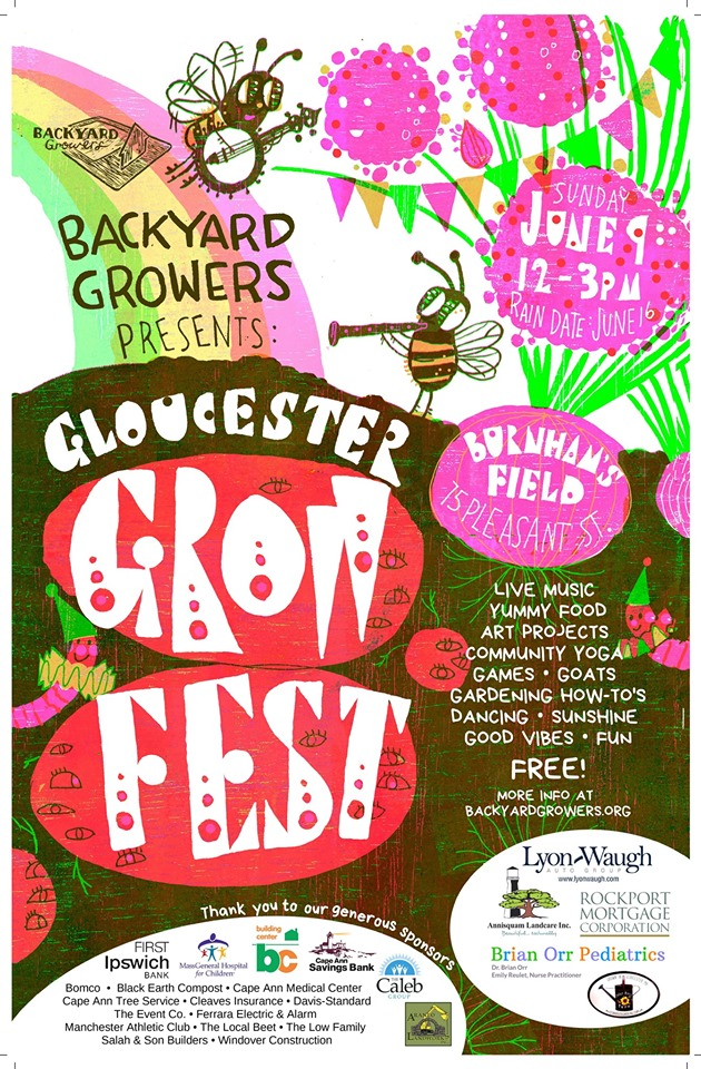 Gloucester Grow Fest 2019. (Poster by Kari Percival)
