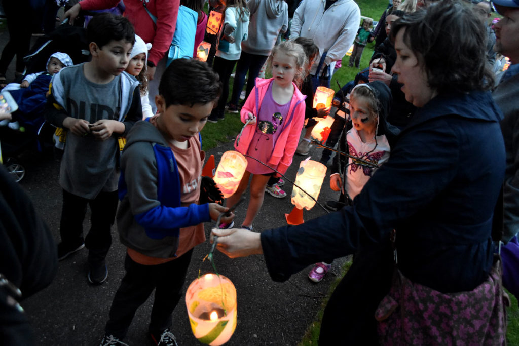 Lantern Walk at Fellsmere Pond, Malden, June 1, 2019. (Greg Cook)