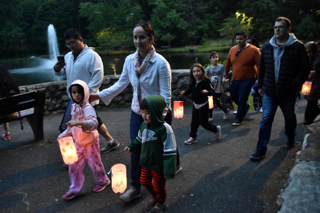 Lantern Walk at Fellsmere Pond, Malden, June 1, 2019. (Greg Cook)
