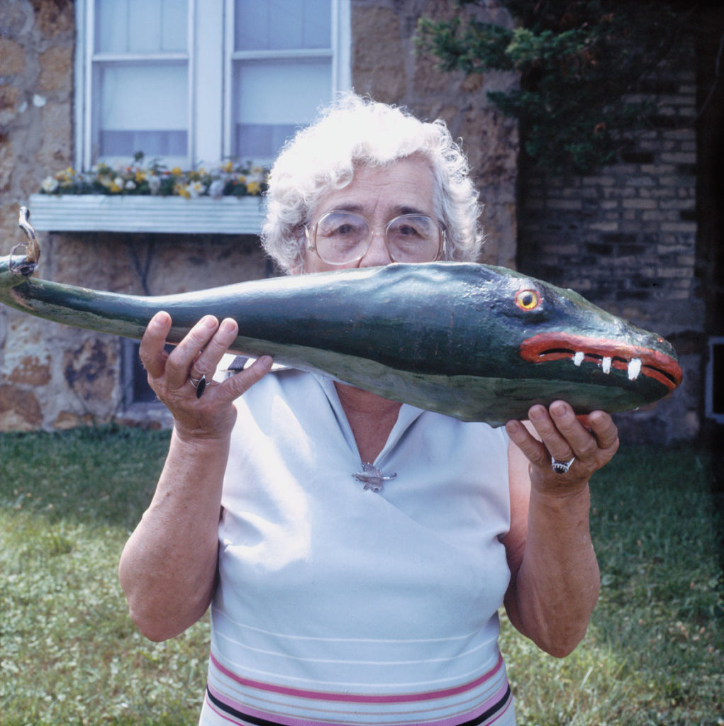 """Minnie Lincks Black with her Whale Harmonica,"" East Bernstadt, KY, 1984, by Guy Mendes. From ""Walks To The Paradise Garden."""