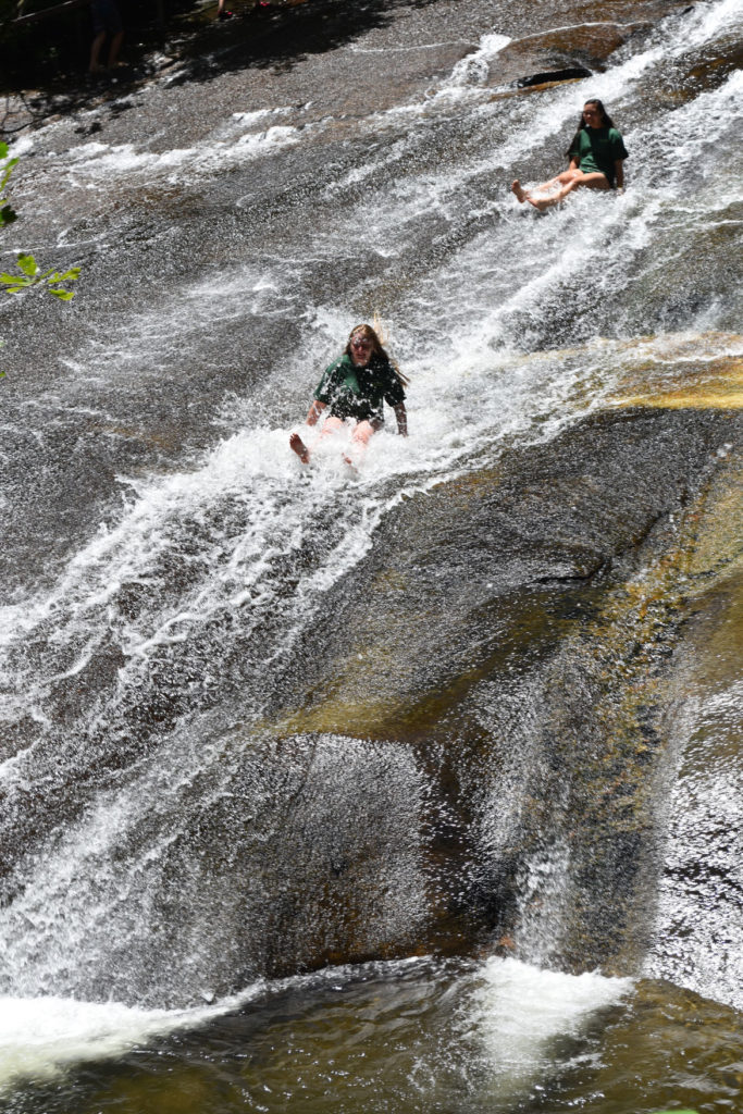 Sliding Rock in Pisgah National Forest, North Carolina, June 27, 2019. (Greg Cook)