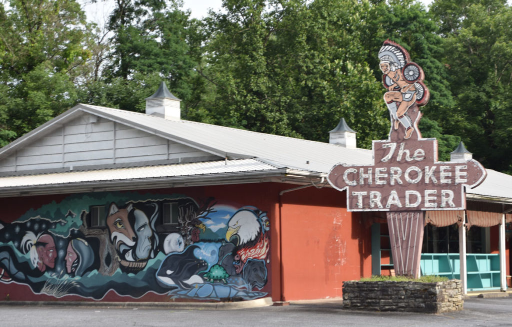 The Cherokee Trader at Cherokee, North Carolina, June 26, 2019. (Greg Cook)
