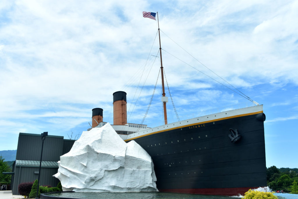 Titanic museum at Pigeon Forge, Tennessee, June 26, 2019. (Greg Cook)