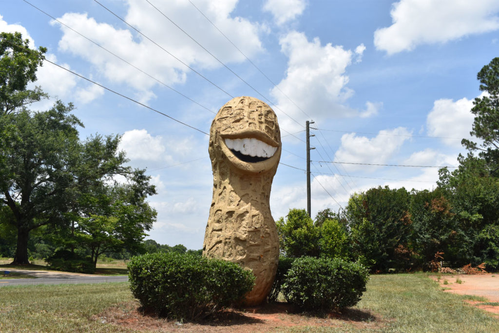 Giant peanut, Plains, Georgia, June 23, 2019. (Greg Cook)