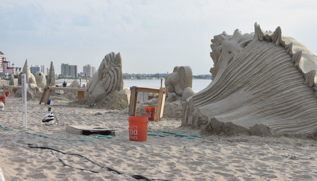 Revere Beach International Sand Sculpting Festival, Massachusetts, July 27, 2019. (Greg Cook)