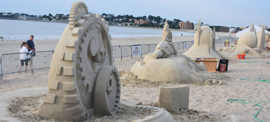 Revere Beach International Sand Sculpting Festival, Massachusetts, July 27, 2019. (Greg Cook)