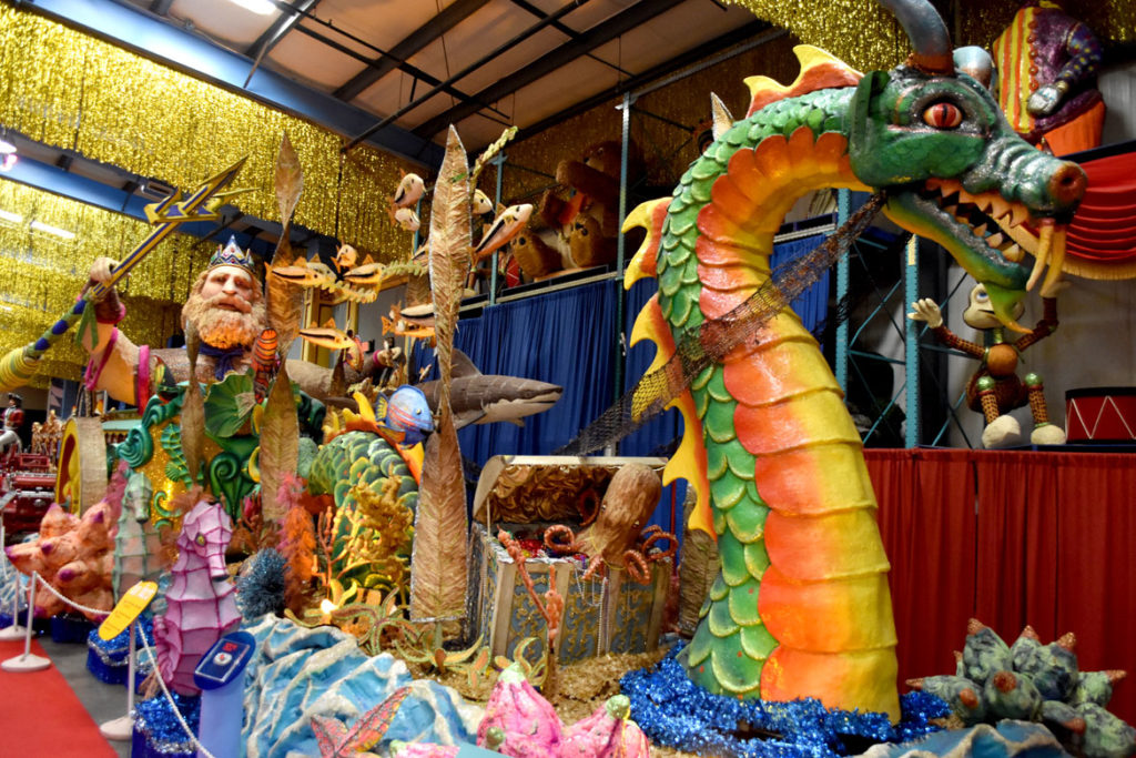 Parade float displayed at American Celebration on Parade at Shenandoah Caverns, Quicksburg, Virginia, June 30, 2019. (Greg Cook)