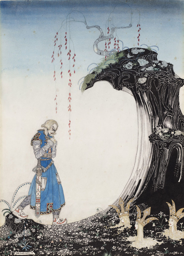 """Kay Nielsen, illustration from """"East of the Sun and West of the Moon, Old Tales from the North,"""" published 1914. (Courtesy Museum of Fine Arts, Boston)"""