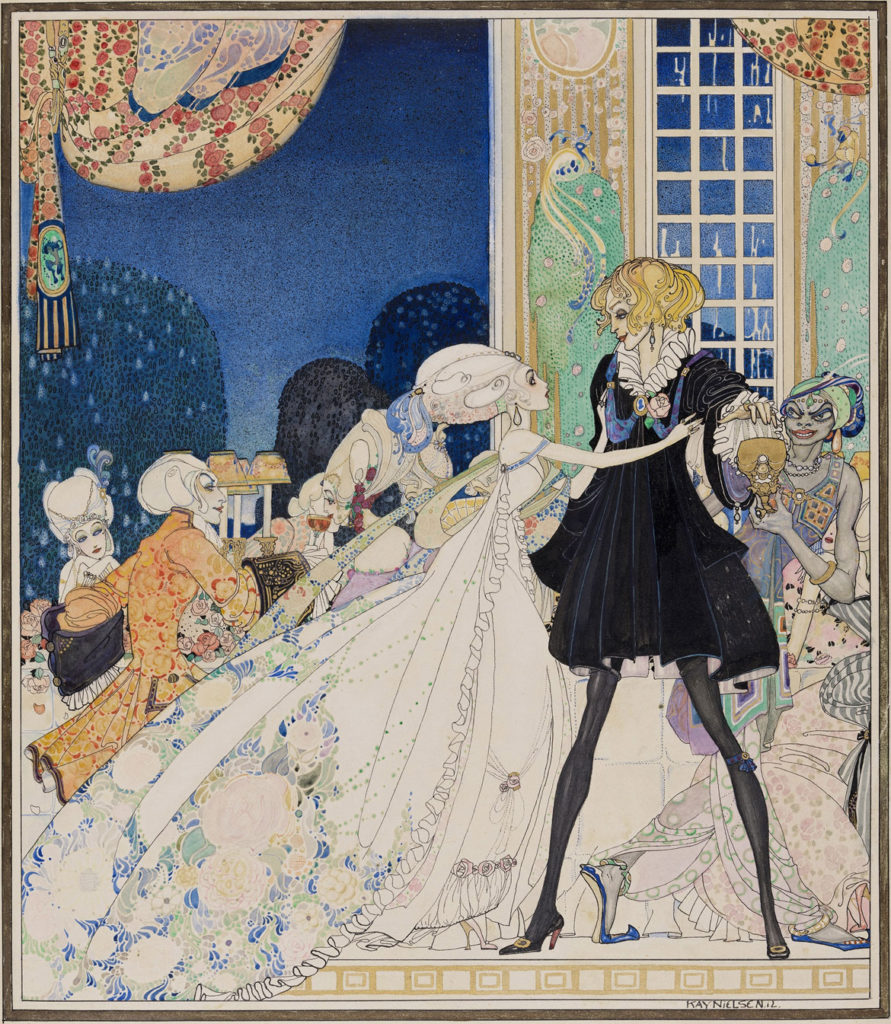 """Kay Nielsen, illustration from """"In Powder and Crinoline: Fairy Tales retold by Sir Arthur Quiller-Couch,"""" published 1913. (Courtesy Museum of Fine Arts, Boston)"""