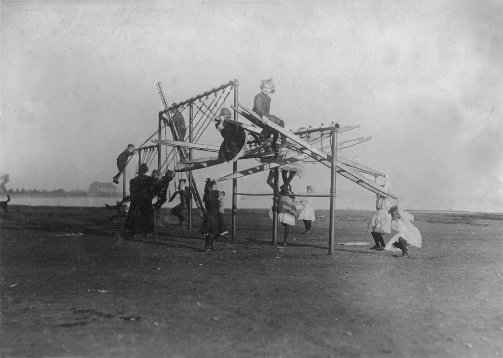 """Lewis Wickes Hine, """"The Dumps"""" Turned into a Playground, Boston, 1909. (Courtesy Isabella Stewart Gardner Museum)"""