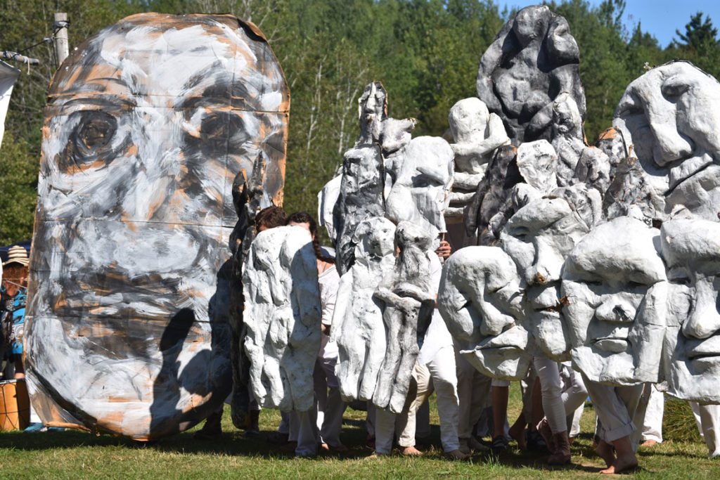"Bread and Puppet Theater's ""Diagonal Life Circus,"" Glover, Vermont, Aug. 25, 2019. (Greg Cook)"