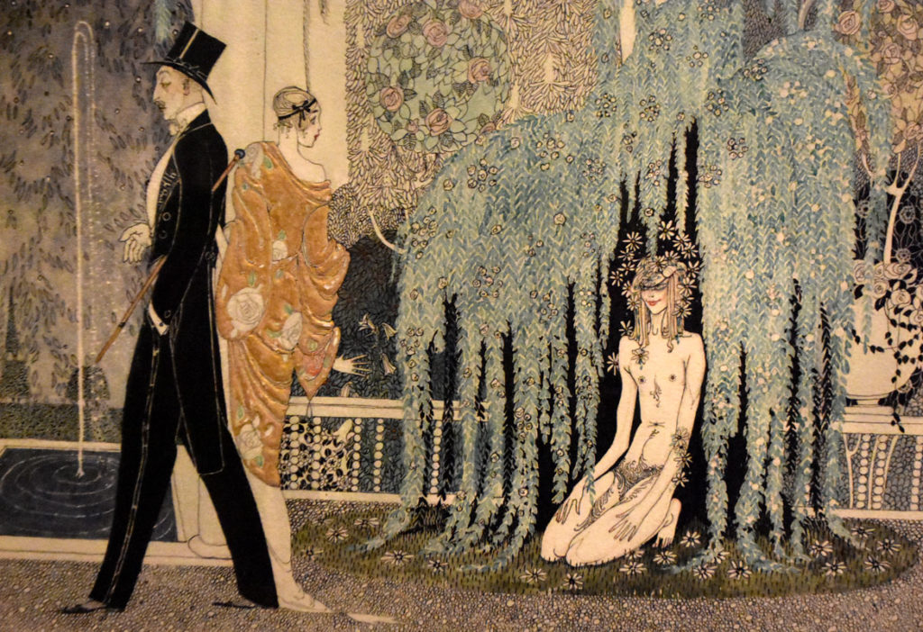 """Kay Nielsen, Detail of """"A Tale from a Garden, No. 1, He and She and That,"""" 1913. (Courtesy Museum of Fine Arts, Boston)"""