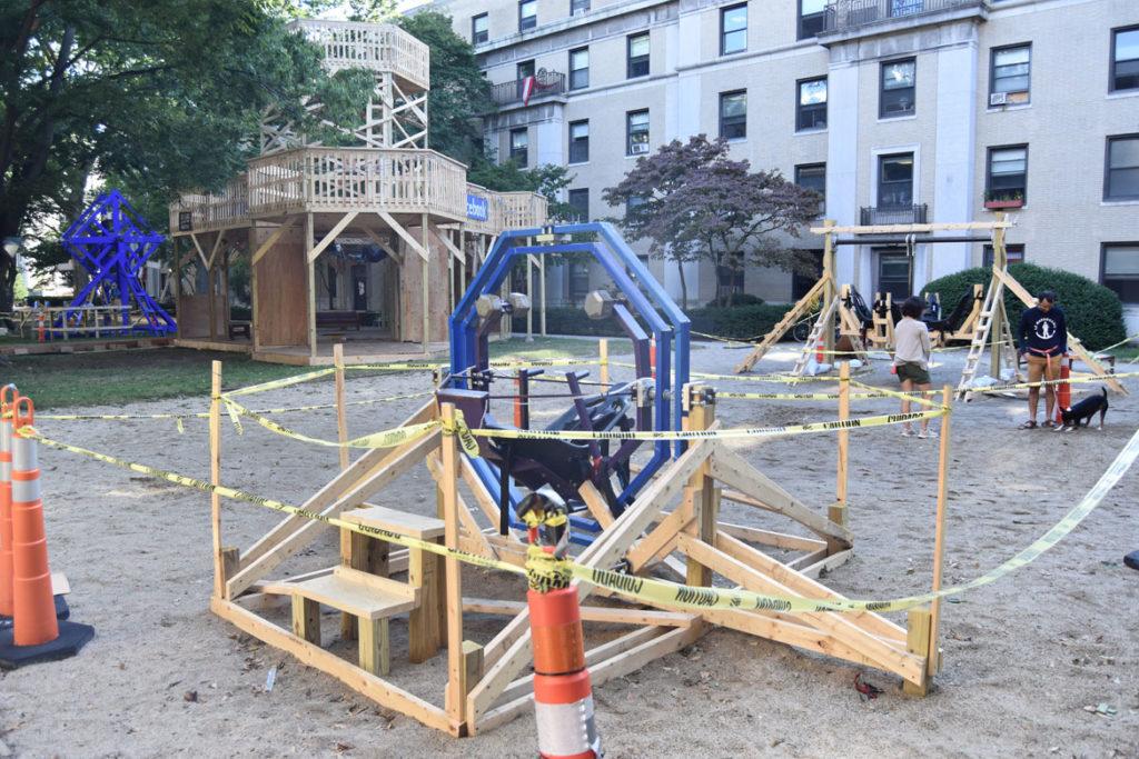DIY rides at MIT's East Campus, Cambridge, Aug. 29, 2019. (Greg Cook)