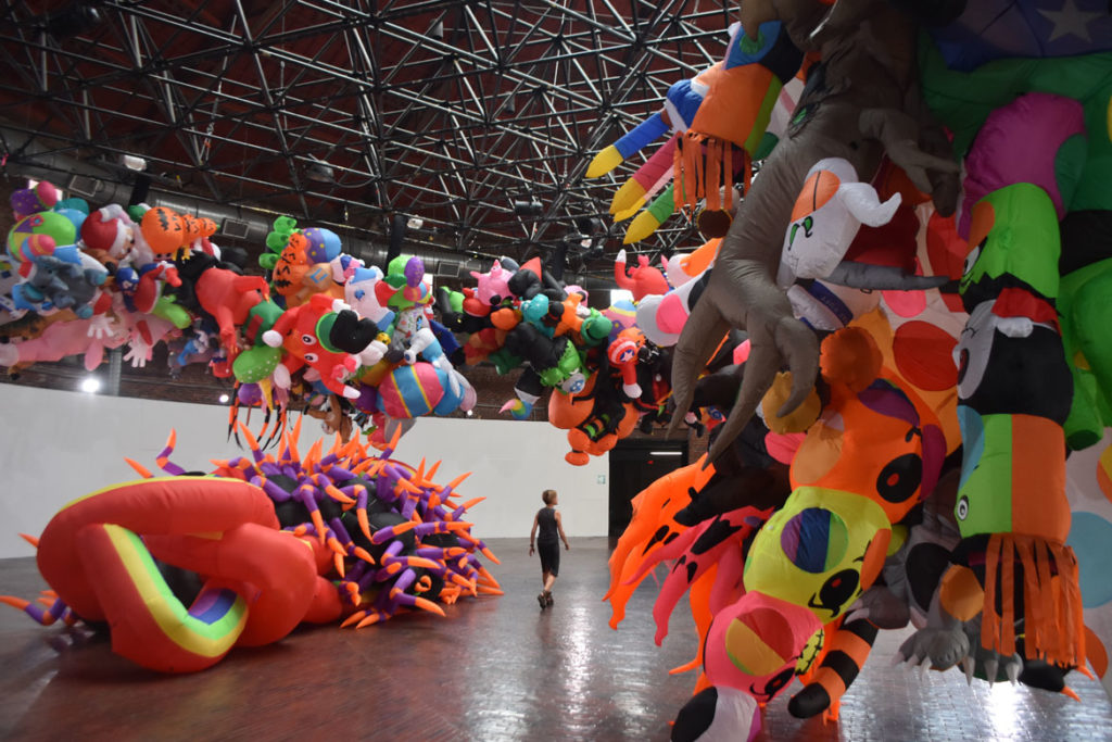 """Nick Cave's """"Augment,"""" Boston Center for the Arts Cyclorama, Aug. 7, 2019. (Greg Cook)"""