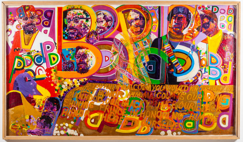 "Wadsworth Jarrell, ""Homage to a Giant,"" 1970, acrylic on board. (Courtesy Kavi Gupta gallery, Chicago)"