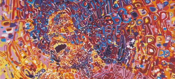 "Wadsworth Jarrell, Detail of ""Revolutionary,"" 1972, screenprint. (Courtesy Kavi Gupta gallery, Chicago)"