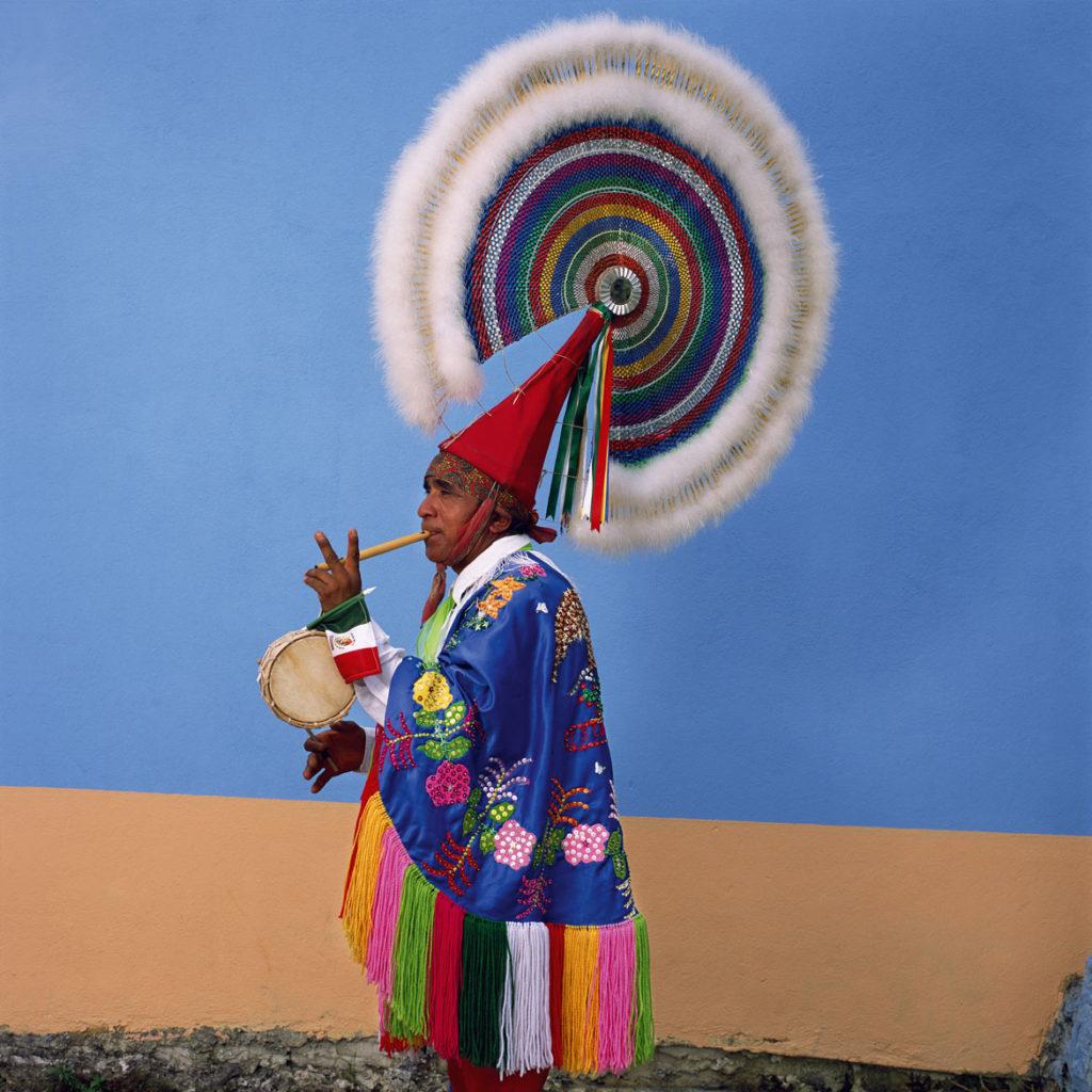 "Phyllis Galembo, ""Danza de los Quetzales , Quetzal, Xiutetelco,"" 2015, from ""Mexico Masks | RItuals."" (Courtesy)"