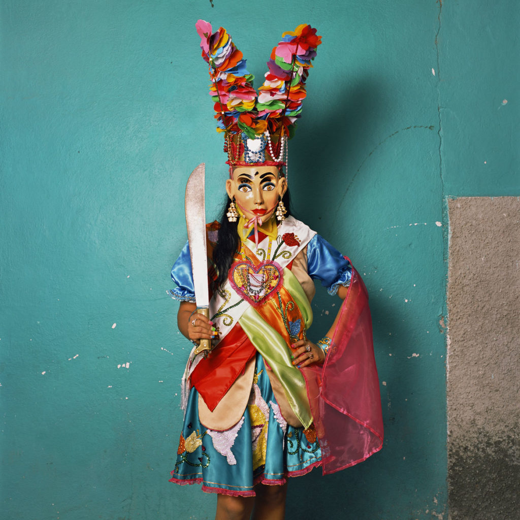 "Phyllis Galembo, ""Reyna, Queen of the Santiagos,"" 2017, from ""Mexico Masks 