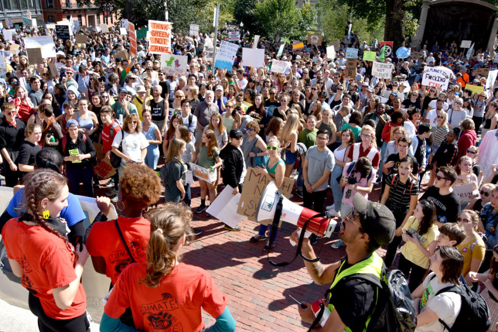 Boston Climate Strike at the Massachusetts State House, Sept. 20, 2019. (Greg Cook)