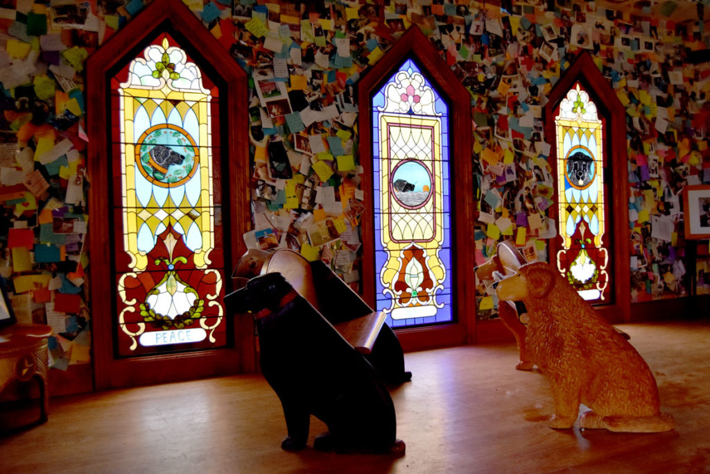 Stephen Huneck's Dog Chapel, St. Johnsbury, Vermont, June 23, 2018. (Greg Cook)