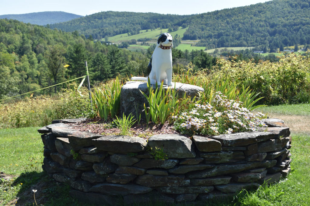 Stephen Huneck's Dog Mountain, St. Johnsbury, Vermont, Aug. 26, 2019. (Greg Cook)
