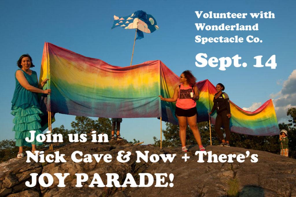 Wonderland Spectacle Co. Rainbow Banner. (Greg Cook)
