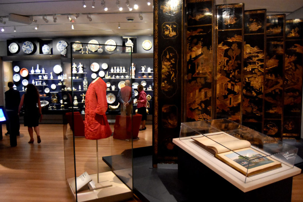 Asian Export Art galleries at the Peabody Essex Museum's new wing, Salem, Sept. 25, 2019. (Greg Cook photo)