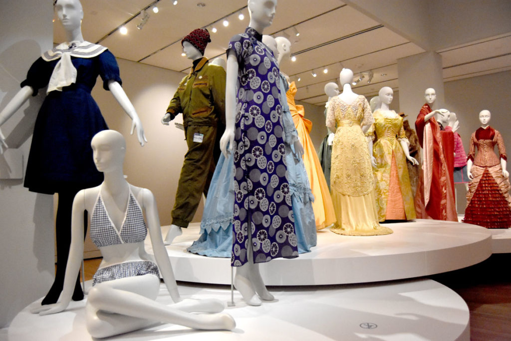 Fashion and design galleries in the Peabody Essex Museum's new wing, Salem, Sept. 25, 2019. (Greg Cook)
