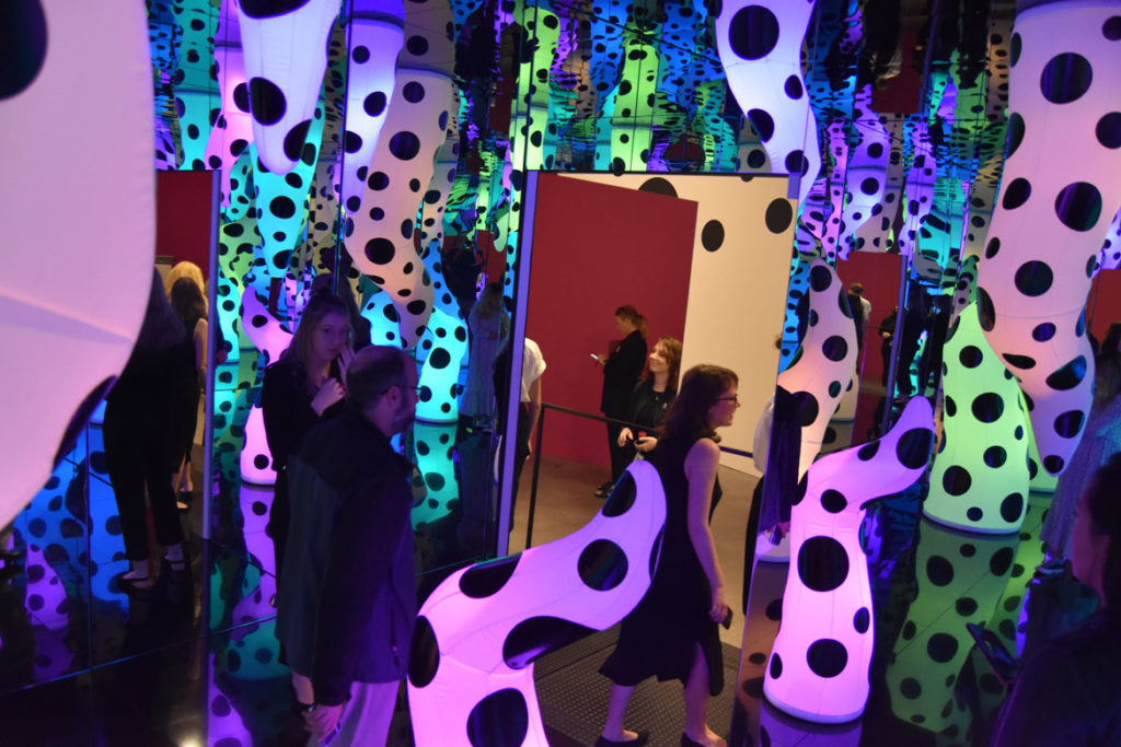 """Yayoi Kusama's """"Love Is Calling"""" at Boston's Institute of Contemporary Art, Sept. 17, 2019. (Greg Cook)"""